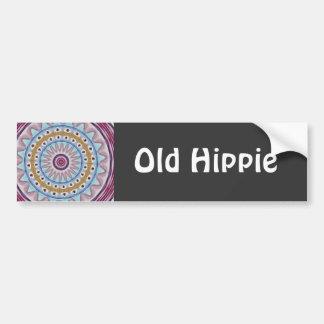 Gammal Hippie Bildekal