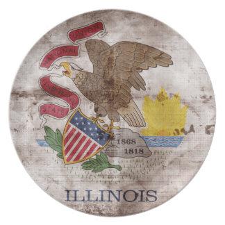 Gammal Illinoisan flagga; Tallrik
