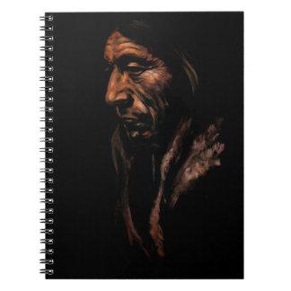 Gammal indiananteckningsbok anteckningsbok
