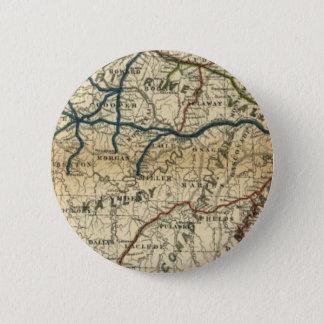 Gammal järnväg karta standard knapp rund 5.7 cm