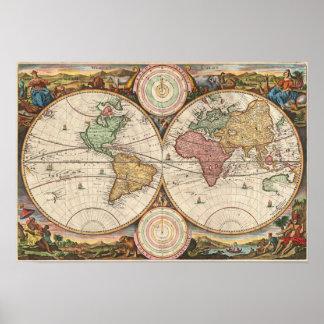 Gammal karta av världen: Stoopendal Poster