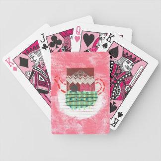 Gammal Kettle som leker kort Spelkort