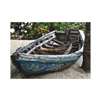 Gammal konst för kanfas för ~ för fartyg~-fiskebåt canvastryck