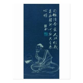 Gammal målning från Japan, forntida Japan Vykort