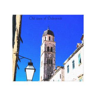 gammal medeltida town av Dubrovnik Canvastryck