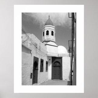 Gammal moské i Tripoli (B&W) Poster