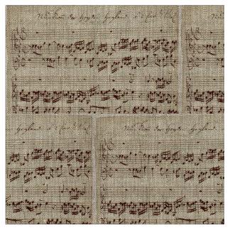 Gammal musik noter - Bach musiklakan Tyg