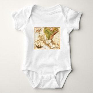 Gammal nord - amerikankarta t-shirt