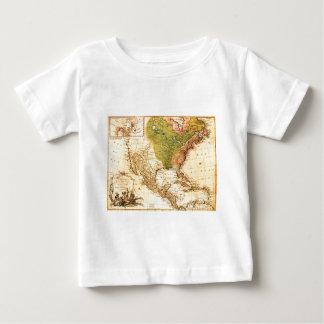Gammal nord - amerikankarta tshirts