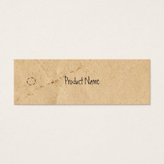 Gammal papper mager hängningmärkre litet visitkort