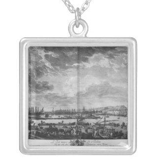 Gammal port av Toulon Silverpläterat Halsband
