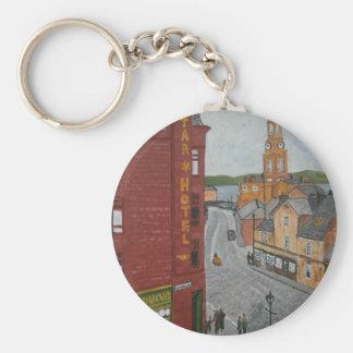 Gammal port Glasgow med townen tar tid på Rund Nyckelring