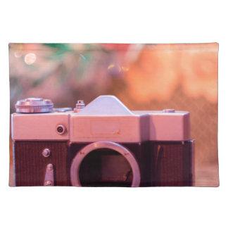 Gammal retro kamera bordstablett