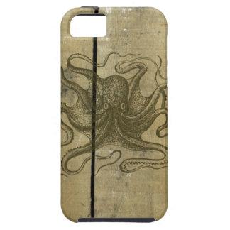 Gammal riden ut Wood bläckfisk iPhone 5 Case-Mate Skydd