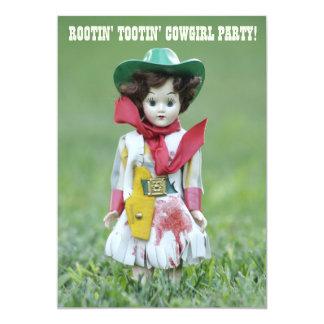 Gammal Rootin Tootin för HAW för Cowgirldocka YEE 12,7 X 17,8 Cm Inbjudningskort