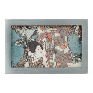 Gammal rulla för japansk vintageukiyo-egeisha
