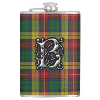 Gammal Skottland för klanBuchanan Tartan flaska