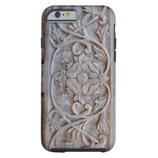 Gammal sniden Wood dörr Scrollwork Tough iPhone 6 Skal