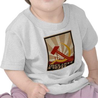 Gammal sovjetisk rysk propagandadräkt t-shirts