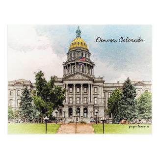 Gammal stil, Colorado statlig huvudstad Bldg, Vykort