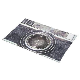 Gammal svart kamera bordstablett