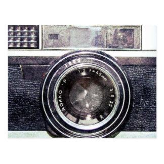 Gammal svart kamera vykort
