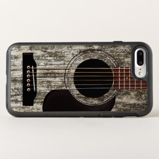 Gammal träakustisk gitarr OtterBox symmetry iPhone 7 plus skal