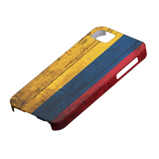 Gammal träColombia flagga Barely There iPhone 5 Fodral