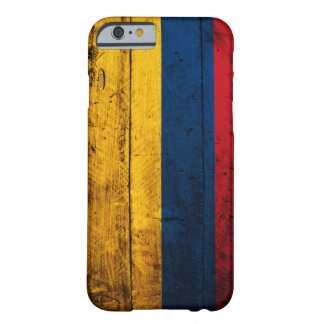 Gammal träColombia flagga Barely There iPhone 6 Skal