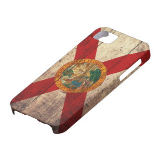 Gammal träFlorida flagga; iPhone 5 Case-Mate Skydd