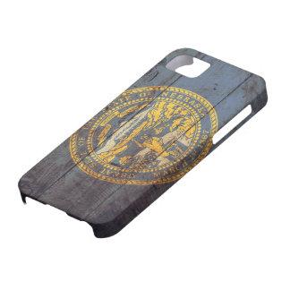 Gammal träNebraska flagga; iPhone 5 Case-Mate Fodral