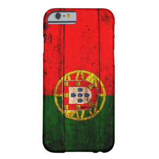 Gammal träPortugal flagga Barely There iPhone 6 Skal