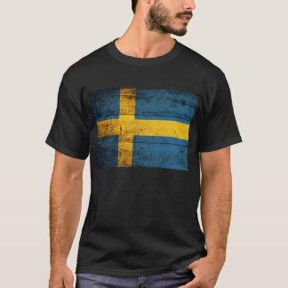 Gammal träsverigeflagga; t-shirts