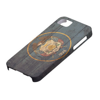 Gammal träUtah flagga; iPhone 5 Fodral