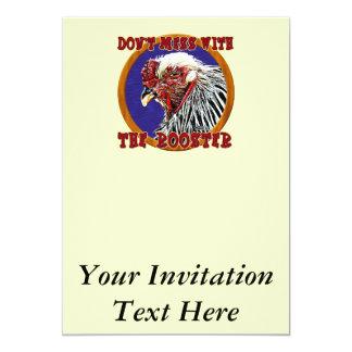 Gammal tupp 12,7 x 17,8 cm inbjudningskort