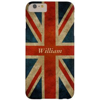 Gammal UK-flagga för Grunge - Storbritannien Barely There iPhone 6 Plus Skal