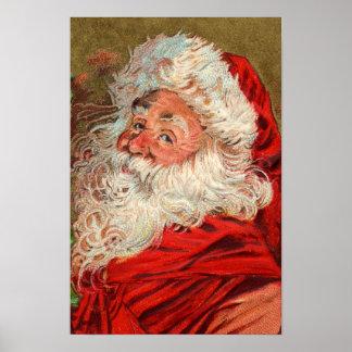 Gammal värld Santa Poster