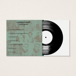 Gammal vintagemusikvinyl