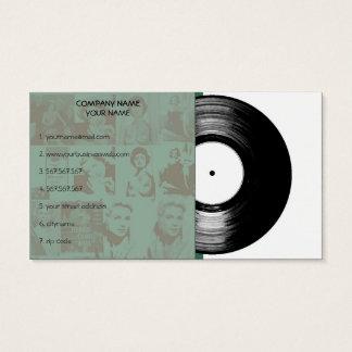Gammal vintagemusikvinyl visitkort
