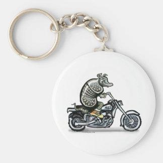 Gammal vresig biker rund nyckelring