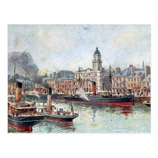 Gammal vykort - Aberdeen, Skottland