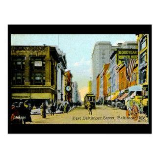 Gammal vykort - Baltimore, Maryland, USA