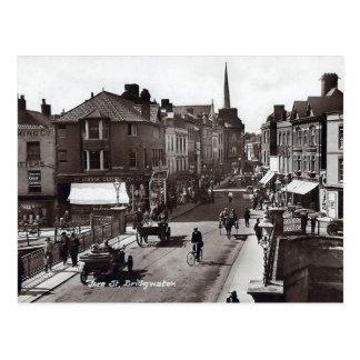 Gammal vykort - Bridgwater, Somerset