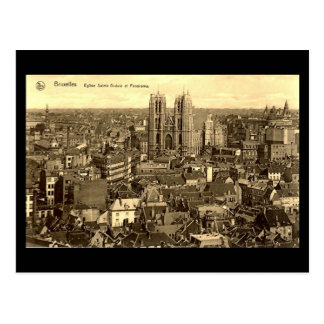 Gammal vykort - Bryssel