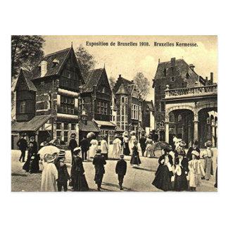 Gammal vykort - Bryssel Expo 1910
