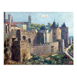 Gammal vykort - Cité de Carcassonne, Aude
