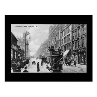 Gammal vykort, Glasgow, Sauchiehall gata Vykort