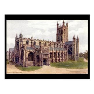 Gammal vykort - Gloucester domkyrka