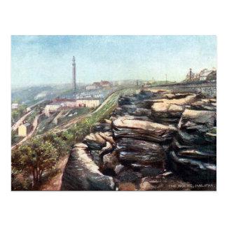 Gammal vykort - Halifax, Yorkshire