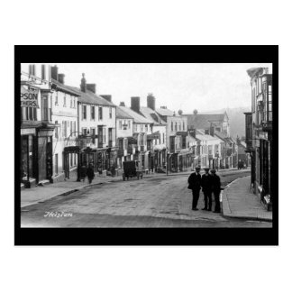 Gammal vykort - Helston, Cornwall